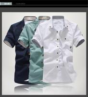 Hot 2014 polo new style Men's Fashion casual Short Sleeve Shirts high quality Summar Slim Shirts 4 Color