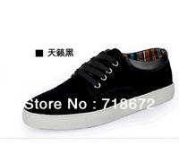 Free shipping 2014 new men's everyday casual leather shoes, Fashion Sneakers  ,  ventilation, large size   Genuine Leather