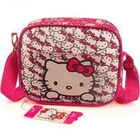 Retails kids cute messenger bag 2013 New arrive hello kitty messenger bags Women's Leisure bag Cartoon canvas Satchel bag