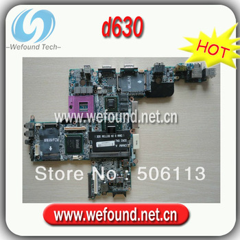 Hot sale 100% working laptop motherboard For DELL D630 non-integrated