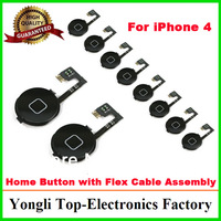 Factory High Quality Replacement Parts For iPhone 4 4G Black Home Menu Button Flex Cable Assembly YL1305