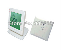 Wholesale price Wireless Digital room RF thermostat LCD Display Celsius or Fahrenheit scale Residential Free Shipping
