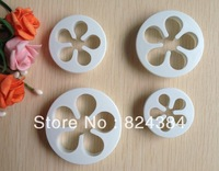 Free shipping  4PCS petal shaped cake cookies machine plunger paste sugarcraft decorating tools