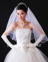 Free shipping promotion price 1.5M pearls one layer white wedding bridal veil bridal accessories sales item Cathedral lyc001