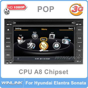 """6.2"""" 2 Din Car DVD GPS Radio Stereo for Hyundai Elantra Sonata Tucson S100 platform"""