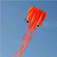 Orange Octopus Kite Soft Kite Single Line Kite Flying Higher Easy Control Hot Sell Free Shipping