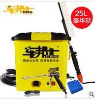 Electric Car Wash Device Portable High Pressure 220v 12v Household Washing Car Machine Car Wash Water Gun 25L 60 w
