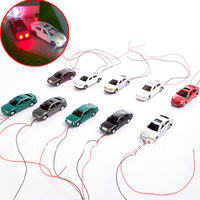 30pcs model plastic mini color  light  car scale 1/100  for layout train