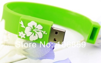 Gift USB Flash Disk 1GB 2GB 4GB 8GB 16GB,Bracelet USB Memory,Wristband Flash drive with logo printing by free shipping