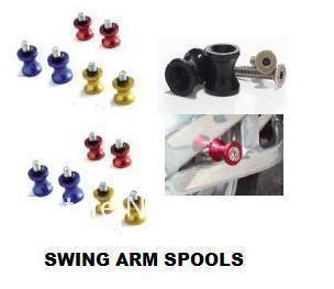 5SETS 10mm LIGHTER Swingarm Spools Slider Bobbins SWING ARM ALIDER FOR kawasaki SWING ARM SPOOLS FOR MOTORCYCLE STANDS