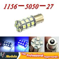 2pcs Ultra Bright 1156 1157 BA15S BA15D 27 SMD 5050 LED Auto Turn signal Brake Tail light 5 color 12V Green Yellow Red  #YNF05