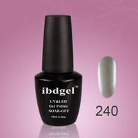 24 PCS Soak off  Ibdgel nail art   glitter  UV nail gel polish hot sale uv gel  (22color gel+1top coat+1base coat)
