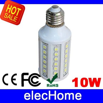 Hight Brightness 10W 5050 SMD 60 leds LED Corn Bulb Lamp Light E27 AC 220V 230V 240V Nature White or Warm White Free Shipping