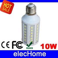 Hight Brightness 10W 5050 SMD 60 leds LED Corn Bulb Lamp Light E27 AC 220V 230V 240V Nature White or Warm White Free Shipping