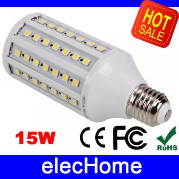 15W E27 LED Bulb Lamp 86 leds SMD 5050 LED Corn Bulbs Lamps Lighting AC 220V 230V 240V Nature White  Warm White free shipping