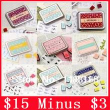 $15 minus $3, (10 Styles) DIY Scrapbooking Vintage Lace Stamp Wood Stamps Iron Box Sealing Stamp Set(China (Mainland))