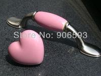 12pcs lot free shipping Pink porcelain pretty cartoon cabinet handle\porcelain handle\drawer handle\furniture handle