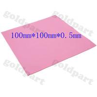 Free shipping (10pcs/lot) Red 100mmx100mmx0.5mm GPU CPU Heatsink Cooling Thermal Conductive Silicone Pad