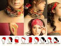 Wholesale 12pcs/lot  ($1.74/piece) Retail packaging Multifunctional  headwear scarf bandana hairnode free shipping Number 81-100