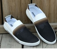 Free shipping Men's 2013 summer fashion breathable sneakers casual shoes slip on moccasins men's fashion hollow sports shoes