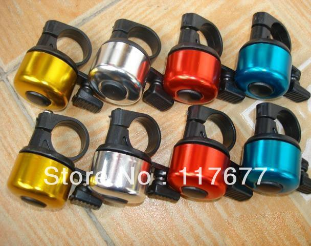 Fedex Free shipping Wholesale Mini Fashion Bicycle Ring Bell Aluminum Bell Sounds Cycling Sport Bike Bells Alarm Horns(China (Mainland))