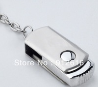 Free Shipping / Stainless steel rotating U disk special genuine creative USB Flash Drives   U021