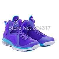 free shipping lebron 9 hornets p s elite basketball shoes for men size us 8~12