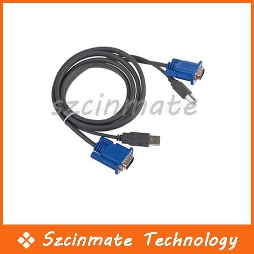 KVM Switch Cable USB 2.0 PC Monitor 15-Pin Standard VGA SVGA 1.5M 20pcs/lot Wholesale(China (Mainland))