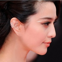 Min.order $10+Gift mix order Fashion personality small snake Clip Earrings Free shipping