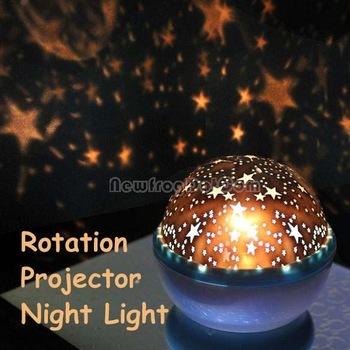 Rotation Star Sky Kid Luminous Light Lamp Night Projector Romantic Decoration NI