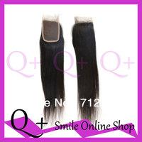 3.5*4 Wholesale Cheap Brazilian Silk Straight Lace Closure Natural Color Brazilian Human Remy Hair, 10 12 14 16 18