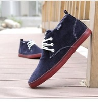 Free shipping 2013 New arrival fashion Men Canvas sneakers shoes cotton-made high casual shoes  casuals men size 39-43 Hot sale