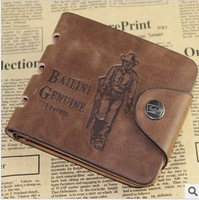 Free shipping 10pieces/lot 2013 New Design Men's Fad Purse Card Bifold pu leather Brief paragraph wallet