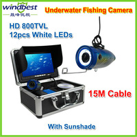 "DHL/FeDex Freeshipping SONY 600 TVL 7"" TFT Color LCD Underwater Camera With 15M Cable Fishing Camera CCTV Camera Video Camera"