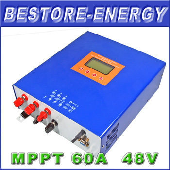 60A MPPT Solar Charge Controller Regulatro, Battery Controller for 48V Solar PV System, Free Shipping
