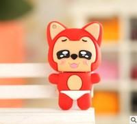 Small raccoon dog cartoon usb flash drive