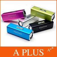 EMS Freeshipping 5Pcs/Lot Portable Music Angel Amplifier TF Card USB FM Radio Mini Speaker