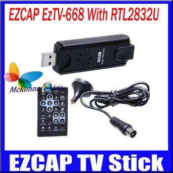 1Pcs/lot Free EzTV-668 RTL2832U FC0013 DVB-T Digital Reciever USB Recorder HD TV Dongle/Tuner Support SDR+FM&DAB MPEG-2/4 H.264