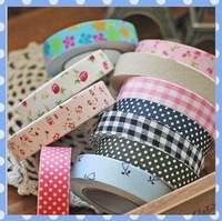 [Amy] free shipping 10pcs/lot Cotton tape sticker&Photo diary necessary decoration tape high quality