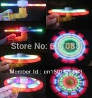free shipping Flash windmill music luminous LED windmill smiley hand push windmill puzzle toys children Creative
