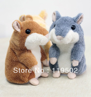 2PCS repeat talking hamsters woody o'time for kids early learning+free shippment