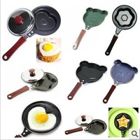 Free shipping 5pcs/lot Lovely Animal shape Egg Fryer Skillet, Mini  Frying Pan,  Non-Stick Cookware Wholesale/Retail