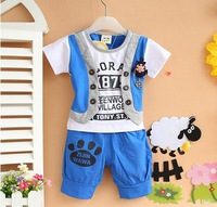 new 2014,baby boy clothes,summer,baby clothing set,baby wear,newborn,kids clothes set,sport suit,T-shirt + pants set