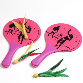 A special children's small Sanmao racket durable practical environmental protection board beach racket racket wholesale