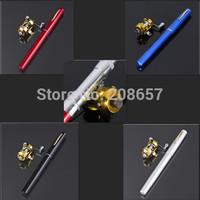 Mini Telescopic Portable Pocket Carp River Pen Pro Fishing Rod Pole Reel Colors