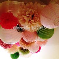 Free shipping 5pcs 10cm(4inches) Chinese round paper lantern wedding lantern festival decoration
