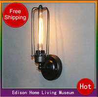 American country retro copper black wrought iron living room dining room bedroom wall Edison shipping