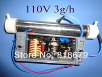 1pc new 110vac AC 110V 3g Ozone Generator Ozone Tube DIY 3g/hr for WATER Plant Purifier ,freeshipping