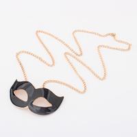 Star women's long design black female mask necklaces