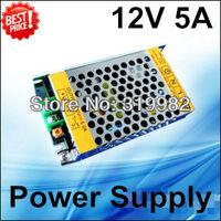 3pcs/lot, 60W 12V5A JUNKE Switching Power Supply, LED strip transformer 110V 220V, Metal case 12V 5A power supply, free shipping